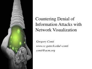 Countering Denial of  Information Attacks with  Network Visualization
