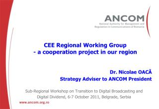CEE Regional Working Group - a cooperation project in our region