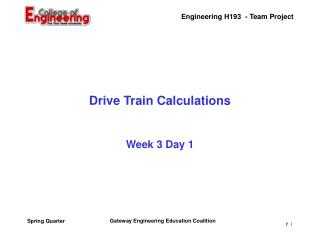 Drive Train Calculations