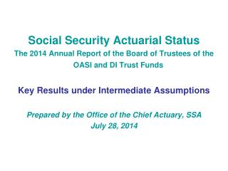 Social Security Actuarial Status