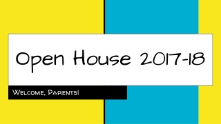 Open House 2017-18