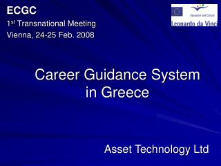 Career Guidance System  in Greece