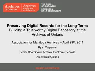 ontario/archives
