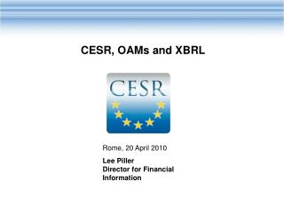 Rome, 20 April 2010 Lee Piller Director for Financial Information