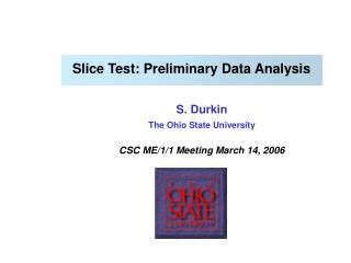 Slice Test: Preliminary Data Analysis
