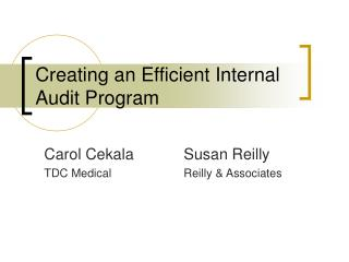 Creating an Efficient Internal Audit Program