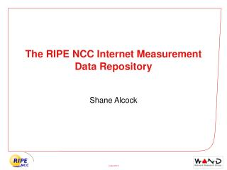 The RIPE NCC Internet Measurement Data Repository