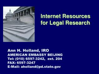 Internet Resources for Legal Research