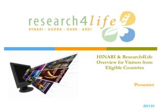 HINARI & Research4Life Overview for Visitors from Eligible Countries