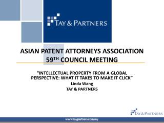 ASIAN PATENT ATTORNEYS ASSOCIATION 59 TH  COUNCIL MEETING