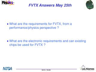 FVTX Answers May 25th