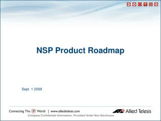 NSP Product Roadmap