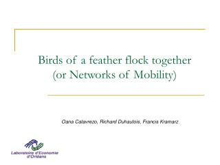 Birds of a feather flock together  (or Networks of Mobility)