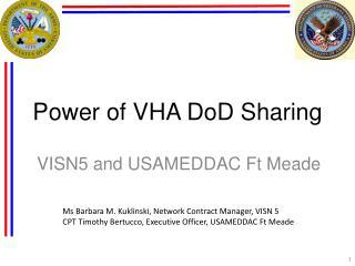 Power of VHA DoD Sharing