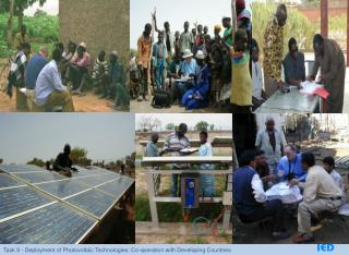 INSTITUTIONAL INFRASTRUCTURE FRAMEWORK FOR PV DEPLOYMENT IN DEVELOPING COUNTRIES
