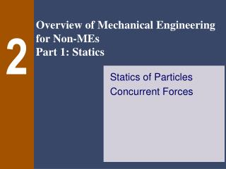 Statics of Particles Concurrent Forces