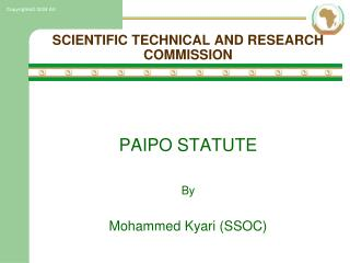 SCIENTIFIC TECHNICAL AND RESEARCH COMMISSION