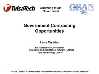 Government Contracting Opportunities Larry Findeiss