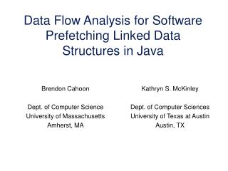 Data Flow Analysis for Software Prefetching Linked Data Structures in Java