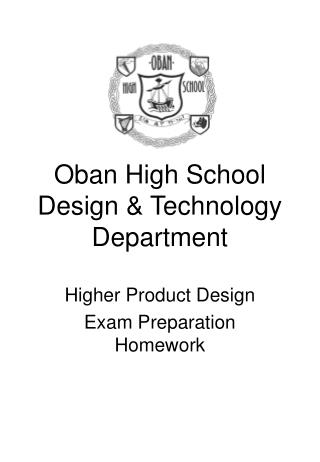 Oban High School Design & Technology Department