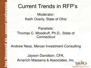 Current Trends in RFP s