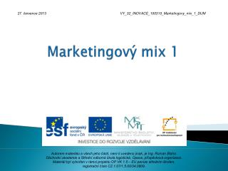 Marketingový mix 1