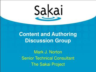 Content and Authoring Discussion Group