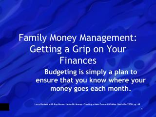 Family Money Management: Getting a Grip on Your Finances