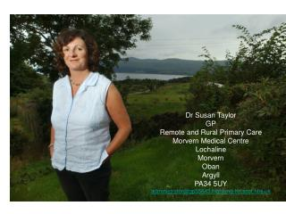 Dr Susan Taylor GP Remote and Rural Primary Care