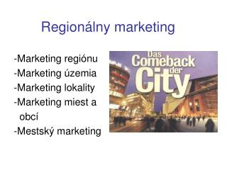 Regionálny marketing