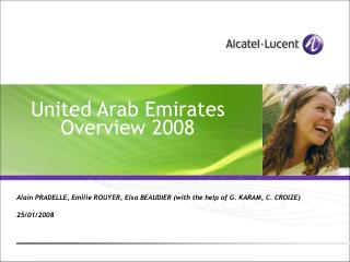 United Arab Emirates Overview 2008