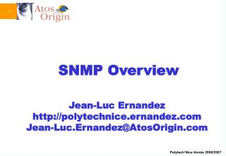 SNMP Overview