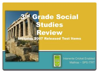 3 rd  Grade Social Studies Review Includes 2007 Released Test Items