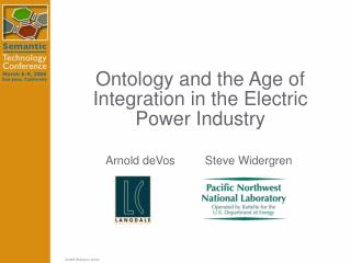 Ontology and the Age of Integration in the Electric Power Industry