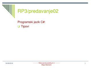 RP3/predavanje02