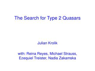 The Search for Type 2 Quasars