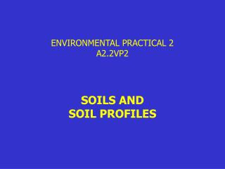 ENVIRONMENTAL PRACTICAL 2 A2.2VP2