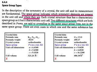 Crystal data Formula sum	     K 0.5  N 0.5  O 1.5 Formula weight	      50.55