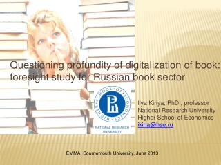 Questioning profundity of digitalization of book: foresight study for Russian book sector