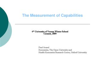 The Measurement of Capabilities