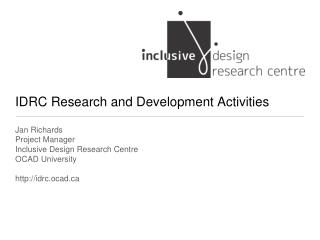 IDRC Research and Development Activities