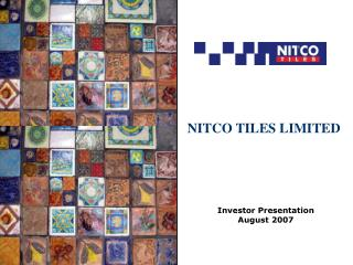 NITCO TILES LIMITED
