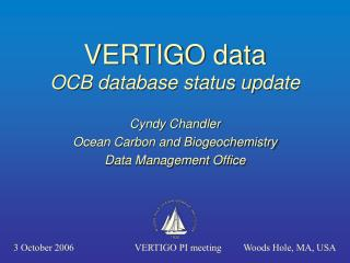 VERTIGO data OCB database status update