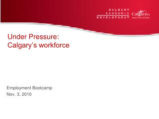 Under Pressure:  Calgary's workforce