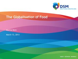 The Globalisation of Food