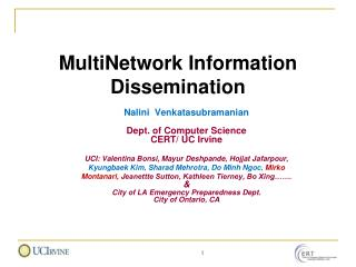 MultiNetwork Information Dissemination