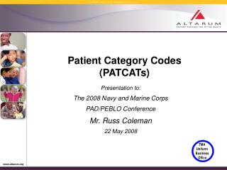 Patient Category Codes (PATCATs)