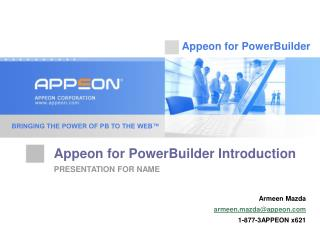 Appeon for PowerBuilder Introduction
