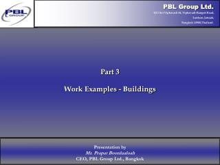 Part 3 Work Examples - Buildings