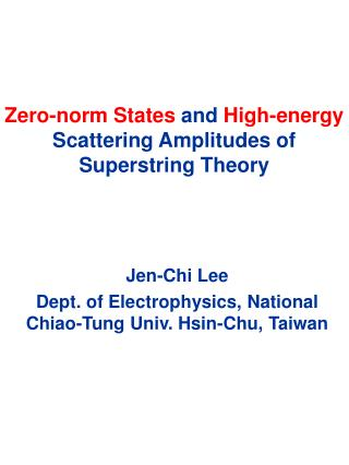 Zero-norm States and High-energy Scattering Amplitudes of Superstring Theory